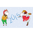 goat sheep 2015 vector image vector image