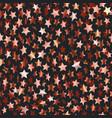 golden stars on dark abstract seamless background vector image