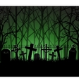 Graveyard cemetery tomb in forest vector image