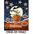halloween paper art welcome to the night party vector image vector image