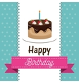 happy birthday celebration card vector image vector image