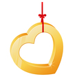 heart on a ribbon vector image vector image