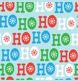 hohoho seamless pattern christmas pattern design vector image
