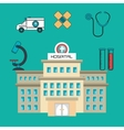 hospital building services medical isolated vector image vector image