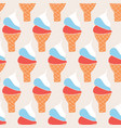 ice cream cones vintage seamless background vector image vector image