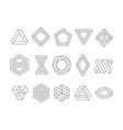 illusion shapes 3d geometrical infinity loop vector image vector image
