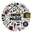 indie rock round composition color vector image vector image