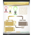 Infographic network marketing vector image