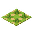 isometric 3d set park vector image vector image