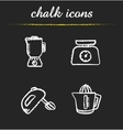 Kitchen tools chalk icons set vector image vector image