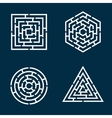labyrinths vector image vector image
