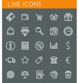 Line icons set Shopping and sale objects web vector image vector image