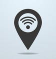 Map pointer with a wifi symbol vector image vector image