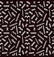 memphis style seamless pattern on black vector image vector image