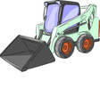 mini excavator g vector image vector image