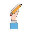 pencil with eraser icon image vector image vector image