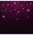Pink shining stars vector image vector image