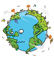 Poor earth cartoon vector image vector image