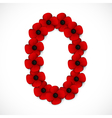 poppies number vector image vector image