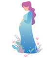 pregnant woman on white vector image vector image