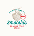premium quality smoothie abstract sign vector image