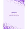 Purple page corner design template vector image vector image
