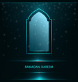 ramadan greeting card with window vector image