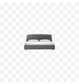 realistic double bed element vector image