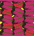 red tropic leaf pattern vector image