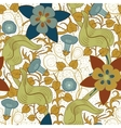 seamless vintage floral pattern Flowers on vector image
