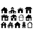 set different houses vector image vector image