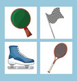 set sport equipment icon vector image vector image