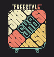 skateboarding t-shirt typography print emblem vector image