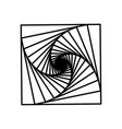 spirals a square vector image vector image