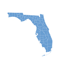 state map of florida by counties vector image vector image