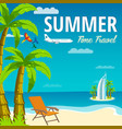 summer time in beach sea shore time travel vector image