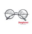 sunglasses hand drawn 2 vector image
