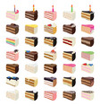 sweet cake slices vector image vector image