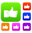 thumb up gesture set collection vector image vector image