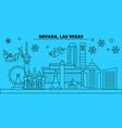 united states las vegas winter holidays skyline vector image vector image