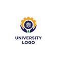 university school science faculty emblem logo vector image