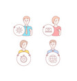 web love heartbeat timer and dating network icons vector image