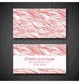 Abstract doodle business card template vector image