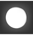 Grey Metal Background With Speech Bubble vector image