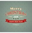 Typography Christmas Greeting Card vector image