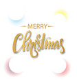 white christmas background with colored circles vector image