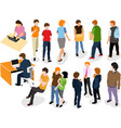 people flat design isolated on white background vector image