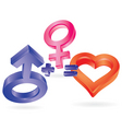 3d love vector image
