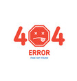 404 error page not found design template for vector image vector image