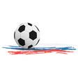 a soccer ball vector image vector image